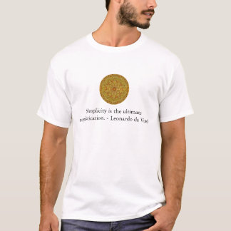 Citation d'art de Leonardo da Vinci T-shirt
