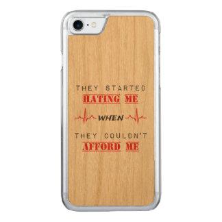 Citation d'attitude sur la caisse en bois de coque iphone 7 en bois