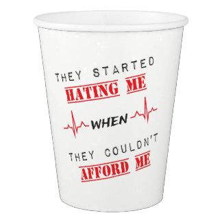 Citation d'attitude sur la tasse gobelets en papier
