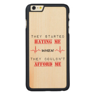 Citation d'attitude sur l'iPhone 6/6s plus le cas Coque Carved® En Érable Pour iPhone 6 Plus Case