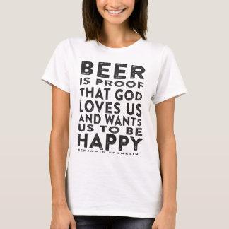 Citation de bière de Ben Franklin - conception T-shirt