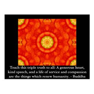CITATION de Bouddha - enseignez cette vérité Cartes Postales
