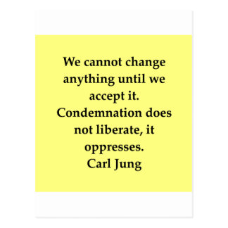 citation de Carl Jung Carte Postale