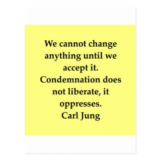 citation de Carl Jung Cartes Postales