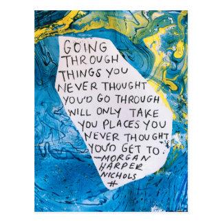 Citation de carte postale d'encouragement d'art