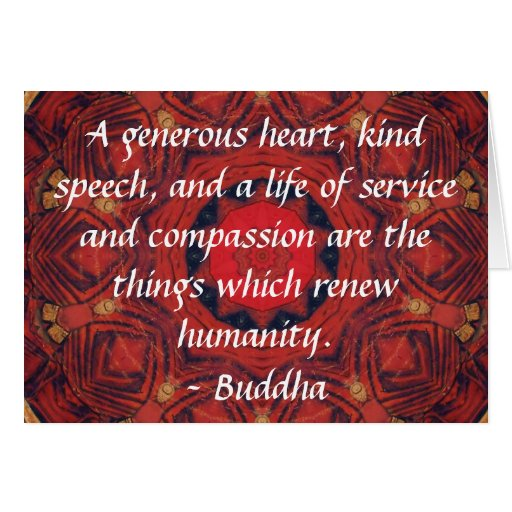 CITATION de CITATION de compassion de Bouddha Carte De Vœux | Zazzle