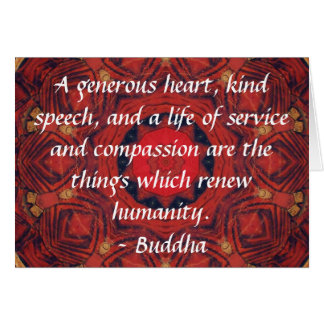 CITATION de CITATION de compassion de Bouddha Carte De Vœux