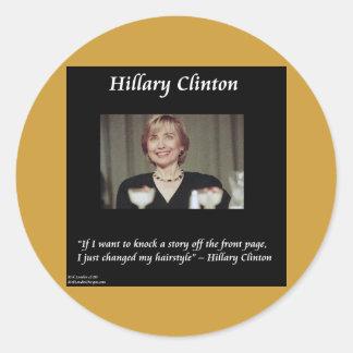 Citation de coiffures et de titres de Hilary Sticker Rond