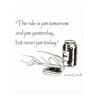 Citation de confiture de Lewis Carroll Carte Postale