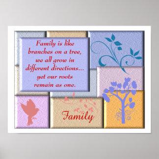 Citation de famille - affiche