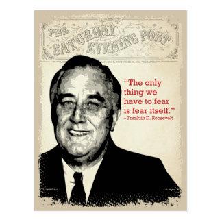 Citation de Franklin D. Roosevelt Carte Postale