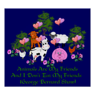 Citation de G.B. Shaw Vegetarian Affiche