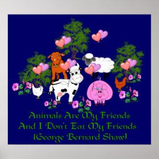 Citation de G.B. Shaw Vegetarian Posters