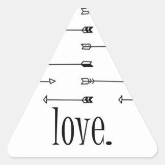 Citation de hippie de flèches de motif sticker triangulaire
