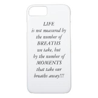 Citation de la vie coque iPhone 7