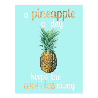 Citation de la vie d'ananas carte postale