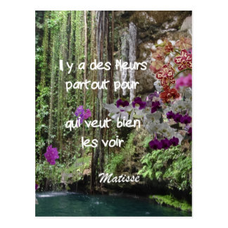 Citation de Matisse en français Carte Postale