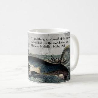 Citation de Moby Dick et tasse de baleine
