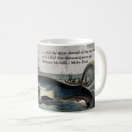 Citation de Moby Dick et tasse de baleine