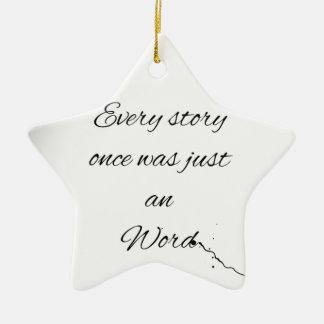 Citation de mot ornement étoile en céramique