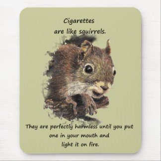 Citation de motivation de tabagisme stoppée drôle tapis de souris