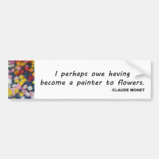 Citation de peinture de fleur de Monet Autocollant De Voiture
