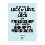 Citation de philosophie de mariage cartes postales