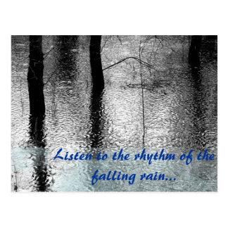 Citation de pluie carte postale