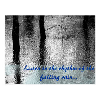 Citation de pluie cartes postales