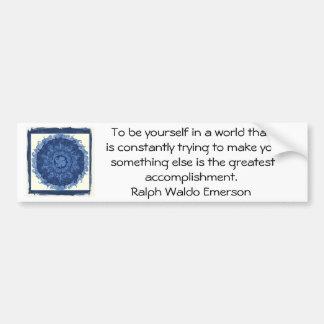 CITATION de Ralph Waldo Emerson inspirée Autocollant Pour Voiture