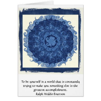CITATION de Ralph Waldo Emerson inspirée Carte De Vœux