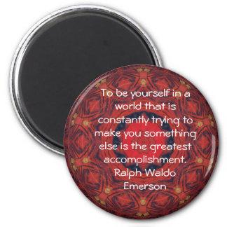 CITATION de Ralph Waldo Emerson inspirée Magnet Rond 8 Cm