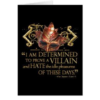 Citation de Richard III (version d'or) Carte De Vœux