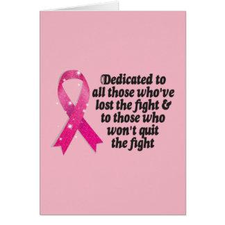 Citation de ruban de Cancer consacrée aux Cartes De Vœux