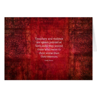 Citation de SAGESSE d'Emily Bronte Cartes