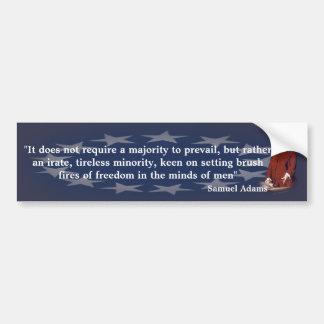 Citation de Samuel Adams sur feu de broussailles Autocollant De Voiture