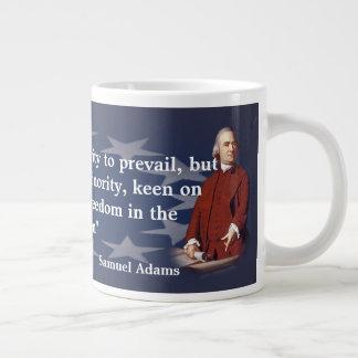 Citation de Samuel Adams sur feu de broussailles Mug