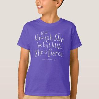 Citation de Shakespeare elle est T-shirt féroce de