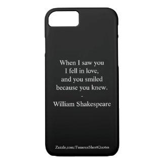 Citation de Shakespeare - j'étais amoureux Coque iPhone 7