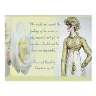 Citation de soeur de sens et de sensibilité carte postale