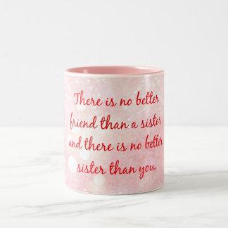Citation de soeur tasse 2 couleurs