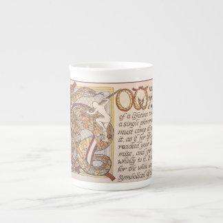 Citation de Thoreau en manuscrit, avec le capital Mug