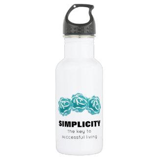 Citation de typographie de simplicité avec les bouteille d'eau en acier inoxydable