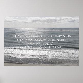 Citation de voiliers et de Thoreau Posters