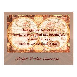 Citation de voyage - carte postale