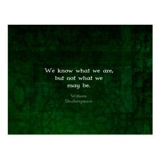 Citation de William Shakespeare au sujet des Cartes Postales