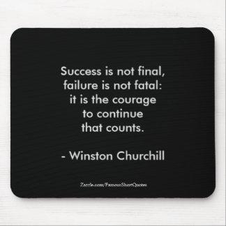 Citation de Winston Churchill ; Succès 2,0 Tapis De Souris