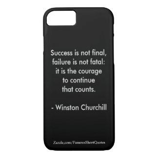 Citation de Winston Churchill ; Succès Coque iPhone 7