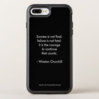 Citation de Winston Churchill ; Succès Coque Otterbox Symmetry Pour iPhone 7 Plus