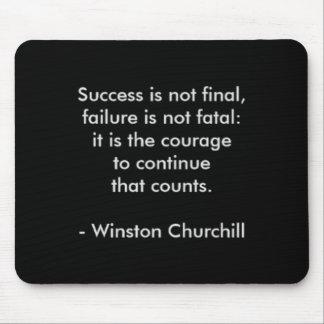 Citation de Winston Churchill ; Succès Tapis De Souris